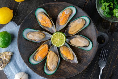Małże zielone z Nowej Zelandii