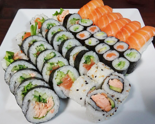 Sushi zetawa mix 42 sztuki