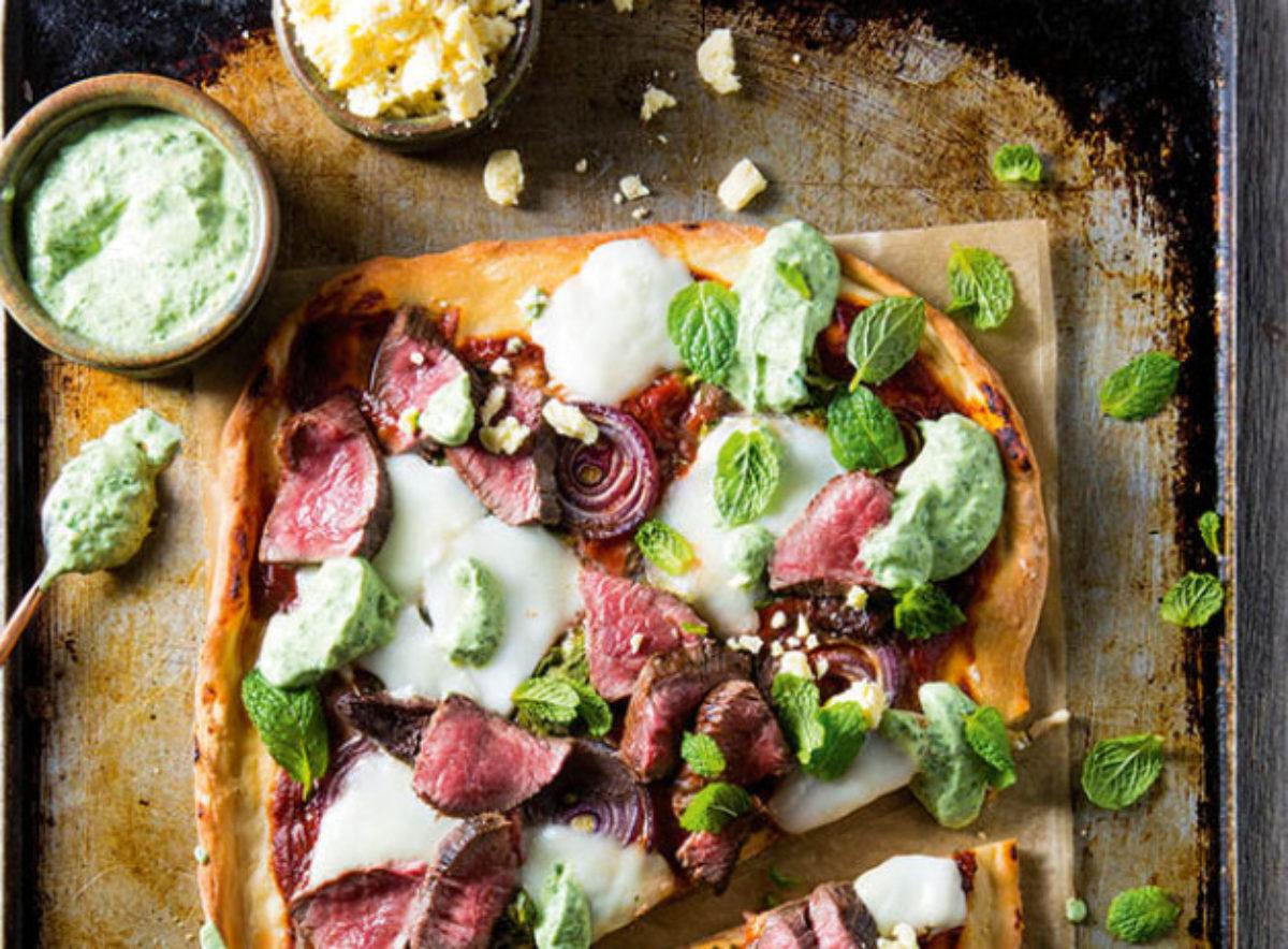 Pizza z jagnięciną i miętą
